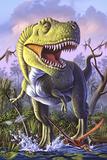 A Tyrannosaurus Rex Crashes Through a Swamp - Reprodüksiyon
