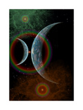 Two Alien Planets in a Distant Part of the Milky Way Galaxy Posters