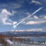 Artist's Depiction of a Large Meteor Entering Earth's Atmosphere Photographic Print