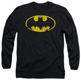 Long Sleeve: Batman - Classic Logo Distressed Shirts