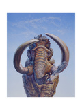 Woolly Mammoth Charging, Pleistocene Epoch Poster