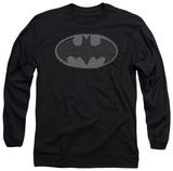 Long Sleeve: Batman - Chainmail Shield T-Shirt