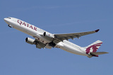 Airbus A330-300 of Qatar Airways Photographic Print