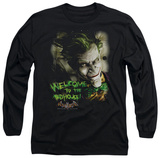 Long Sleeve: Batman Arkham Asylum - Welcome To The Madhouse T-Shirt