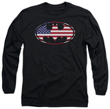 Long Sleeve: Batman - American Flag Oval Long Sleeves