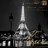 Paris at Night Art by Kate Carrigan