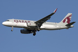 Airbus A320 Sharklet of Qatar Airways Photographic Print