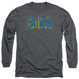 Long Sleeve: Batman - Sketch Logo T-Shirt