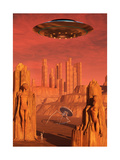 Members of the Planets Advanced Civilization Leaving Mars Posters