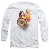 Long Sleeve: 2 Broke Girls - Tips Really T-Shirt