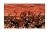 Abandoned Relics from an Advanced Martian Civilization Print