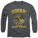 Long Sleeve: Army - Hooah Shirts