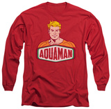 Long Sleeve: Aquaman - Aquaman Sign Long Sleeves