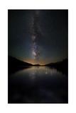 Milky Way Reflected on Tenaya Lake in Yosemite National Park, California Prints