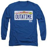 Long Sleeve: Back To The Future - Outatime Plate Shirts