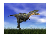 Aucasaurus Dinosaur Running in the Grass Posters