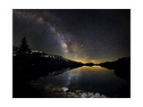 Milky Way Reflected on Tenaya Lake in Yosemite National Park, California Prints