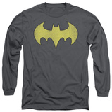 Long Sleeve: Batman - Batgirl Logo Distressed T-Shirt