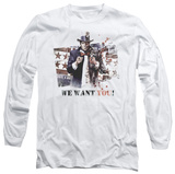 Long Sleeve: Batman Arkham City - We Want You T-shirts