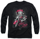 Long Sleeve: Betty Boop - Biker Babe Vêtements