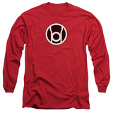 Long Sleeve: Green Lantern - Red Lantern Logo Shirt
