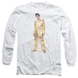 Long Sleeve: Elvis Presley - Gold Lame Suit T-Shirt