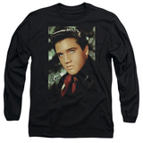 Long Sleeve: Elvis Presley - Red Scarf T-shirts