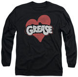 Long Sleeve: Grease - Heart T-shirts