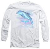 Long Sleeve: Dolphin Tale - Winter Water Color T-Shirt