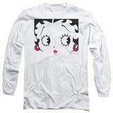 Long Sleeve: Betty Boop - Close Up T-Shirt