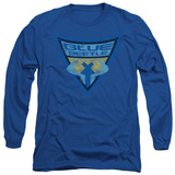 Long Sleeve: Batman The Brave and the Bold - Blue Beetle Shield T-Shirt