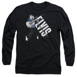 Long Sleeve: Elvis Presley - On His Toes T-shirts
