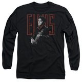 Long Sleeve: Elvis Presley - Red Guitarman T-shirts