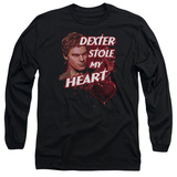 Long Sleeve: Dexter - Bloody Heart T-shirts