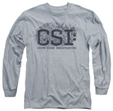 Long Sleeve: CSI - Distressed Logo Shirt