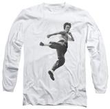 Long Sleeve: Bruce Lee - Flying Kick Shirts