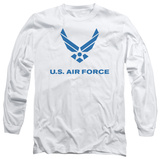 Long Sleeve: Air Force - Distressed Logo Long Sleeves