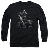 Long Sleeve: Elvis Presley - Guitar In Hand T-shirts