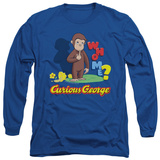 Long Sleeve: Curious George - Who Me T-shirts