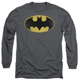 Long Sleeve: Batman - Distressed Shield T-Shirt