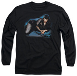 Long Sleeve: Bettie Page - Blue Moon T-Shirt