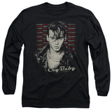 Long Sleeve: Cry Baby - Drapes & Squares T-shirts
