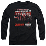 Long Sleeve: Criminal Minds - Think Like One T-Shirt