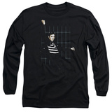 Long Sleeve: Elvis Presley - Blue Bars Shirts