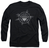 Long Sleeve: Green Lantern - Black Glow T-shirts