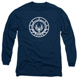Long Sleeve: Battlestar Galactica - Pegasus Badge T-Shirt