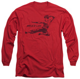Long Sleeve: Bruce Lee - Line Kick Shirts