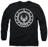 Long Sleeve: Battlestar Galactica - Galactica Badge T-Shirt