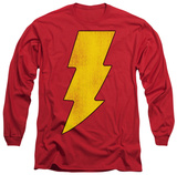 Long Sleeve: Shazam - Shazam Logo Distressed T-Shirt