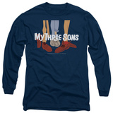 Long Sleeve: My Three Sons - Shoes Logo Shirts